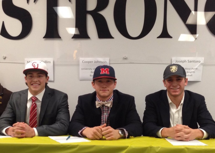 Three seniors sign to play baseball in college.