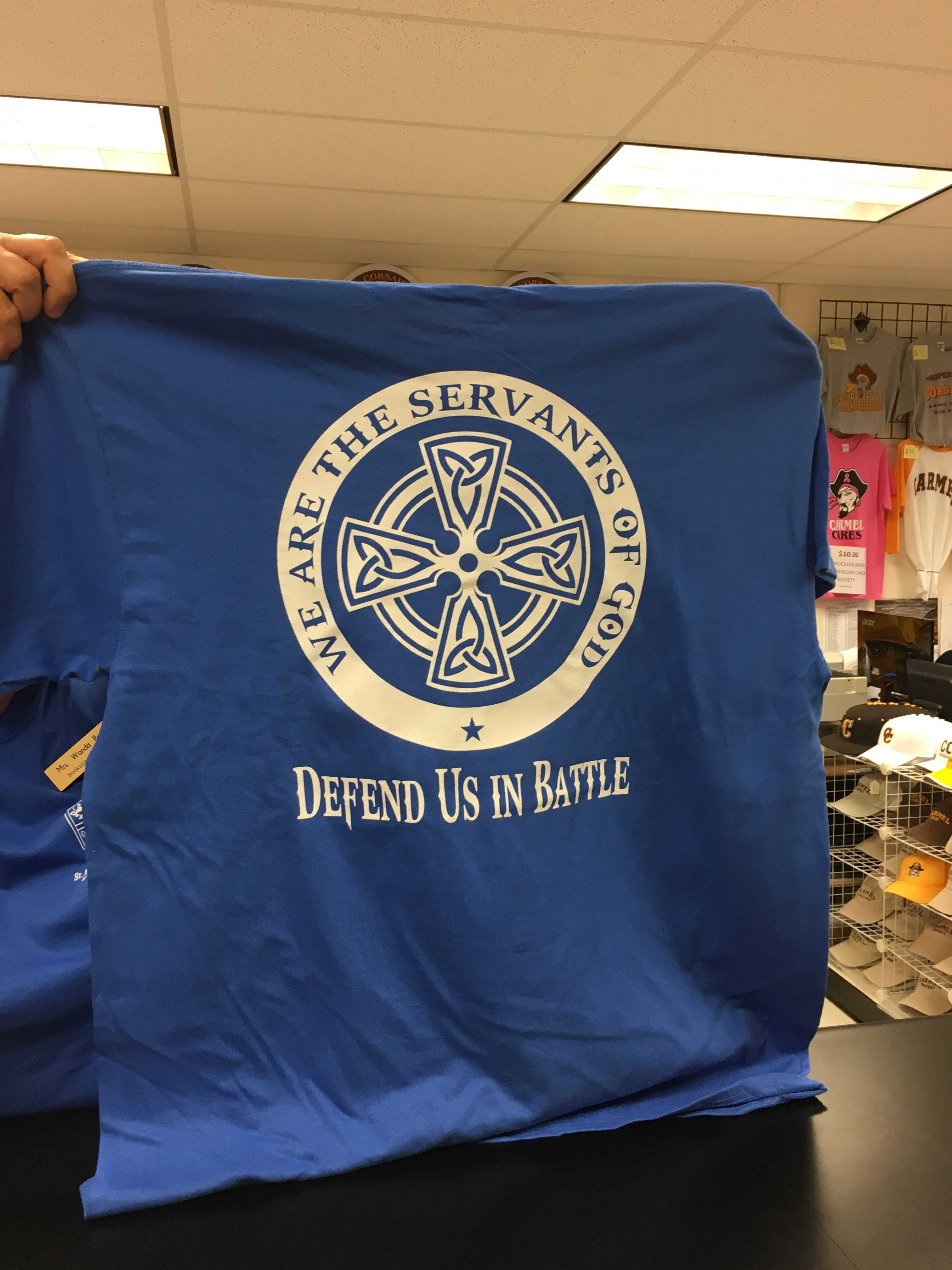 The bookstore sold almost the entire stock of blue t-shirts to honor the 100 Club of Chicago.