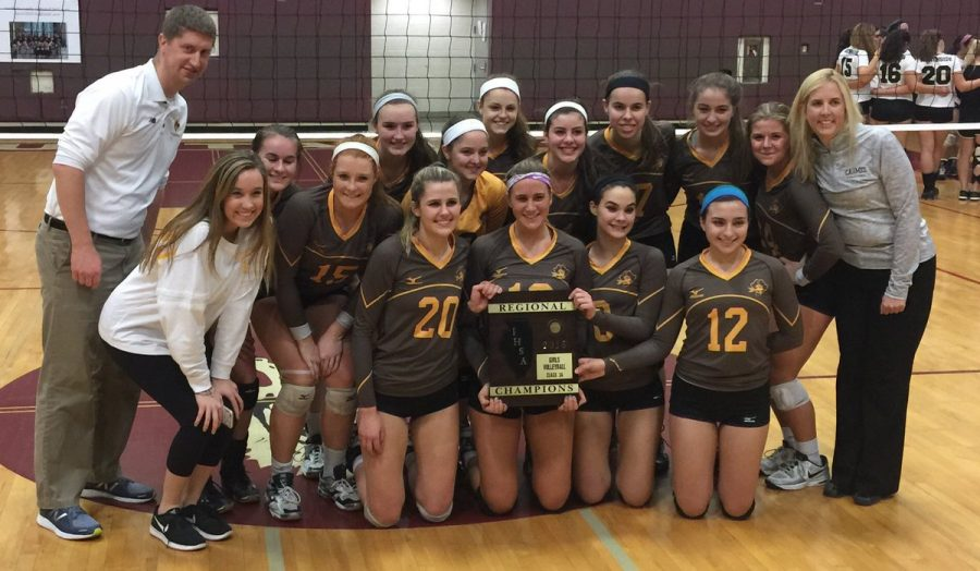 Photo from the Carmel girl's volleyball twitter page