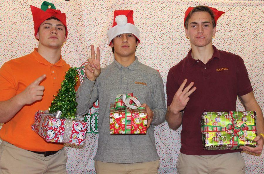 Jake 1, 2, and 3 (try to) wrap presents