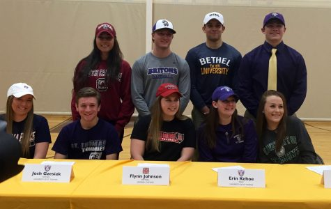 Carmel athletes commit to college