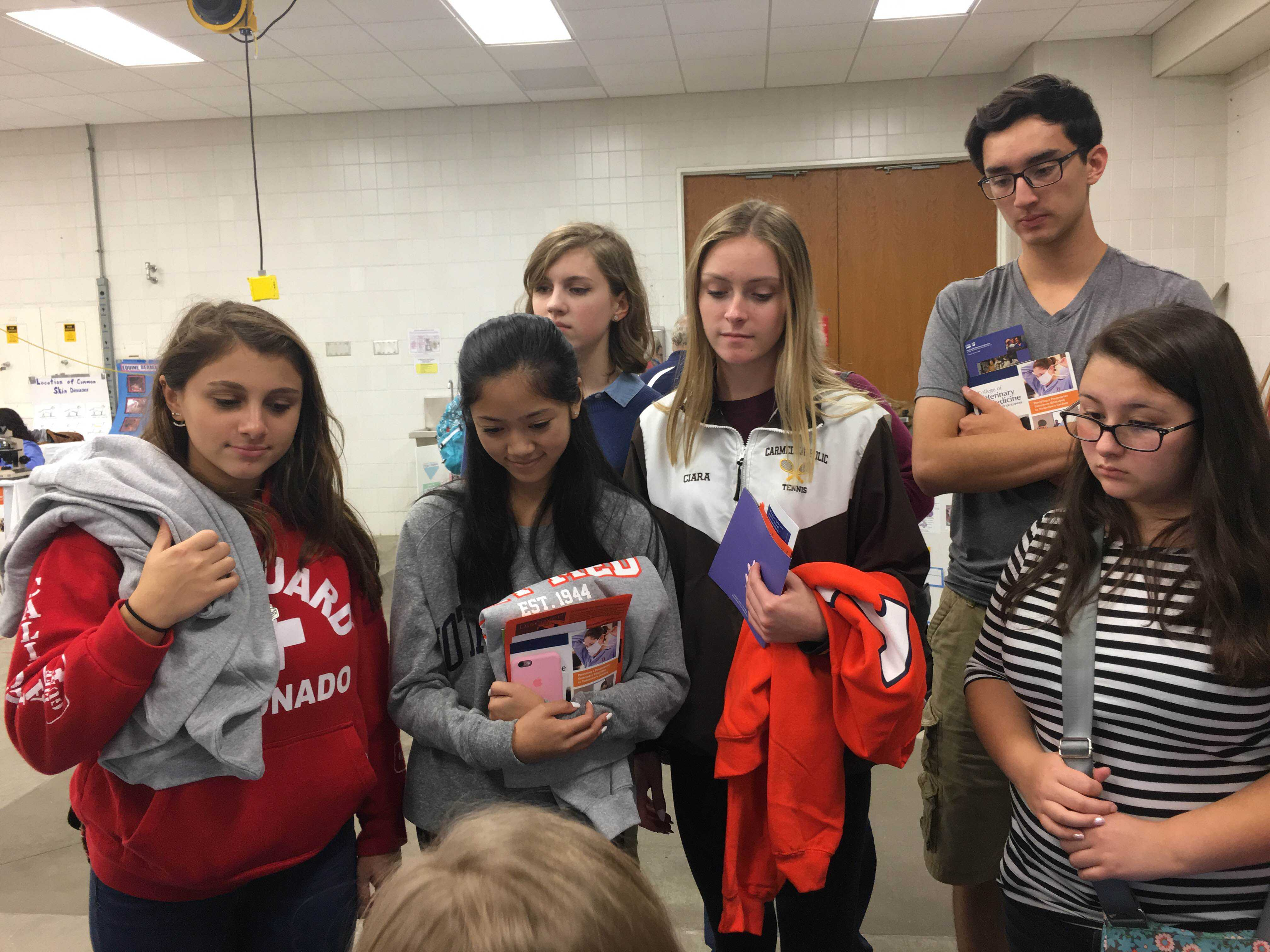 PAWed club visited the University of Illinois for a field trip during the fall