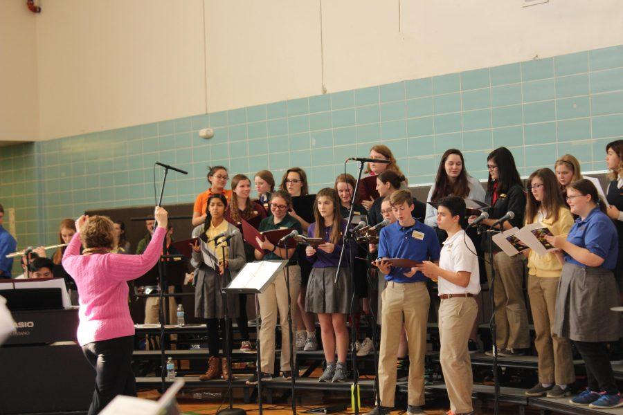 The choir sings during communion.