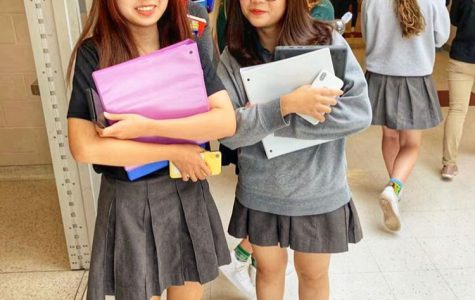 International sophomore students Cathrina Li (left) and Lily Le (right).