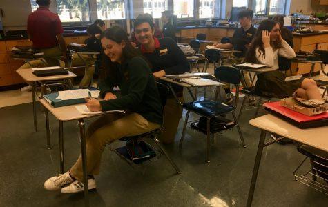 Sophomores Isabella Pagano and Hermes Medina.