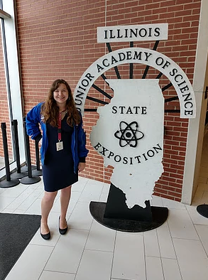 Rebecca at the State Science Fair