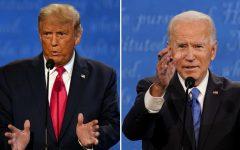 Donald Trump (L), Joe Biden (R)